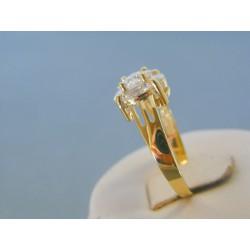 Zlatý dámsky prsteň žlté zlato zirkón VP57334Z 14 karátov 585/1000 3.34g