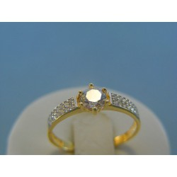 Zlatý dámsky prsteň číre zirkóny žlté biele zlato VP59190V 14 karátov 585/1000 1.90g