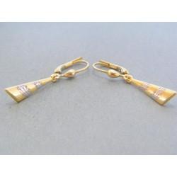 Zlaté dámske visiace náušnice žlté biele zlato VA194V 14 karátov 585/1000 1.94g