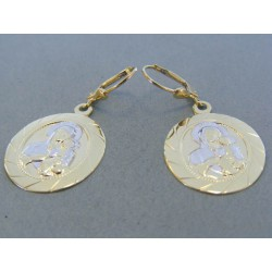 Zlaté dámske náušnice vzorované VN430Z 14 karátov 585/1000 4.30g