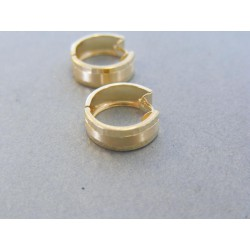 Zlaté dámske náušnice vzorované VA218Z 14 karátov 585/1000 2.18g