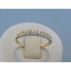 Zlatý dámsky prsteň s kamienkami zirkónu VP58184V 14 karátov 585/1000 1.84