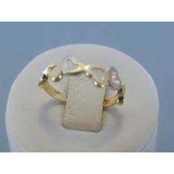 Zlatý dámsky prsteň srdiečkový VP54140V 14 karátov 585/1000 1.40g