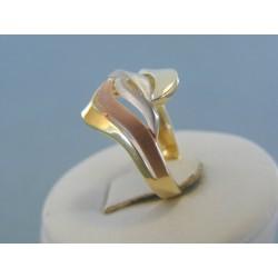 Dámsky zlatý prsteň kombinované zlato VP56304V 14 karátov 585/1000 3.04g