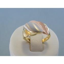 Zlatý dámsky prsteň kombinácia zlata VP56307V 14 karátov 585/1000 3.07g