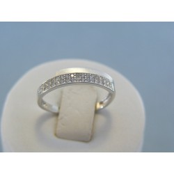 Zlatý dámsky prsteň s kamienkami zirkónu VP56147B 14 karátov 585/1000 1.47g