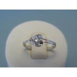 Strieborný dámsky prsteň srdiečko so zirkónom DPS52133 925/1000 1.33g