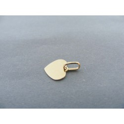 Zlatý prívesok srdiečko ploské hladké DI028Z 14 karátov 585/1000 0.28g