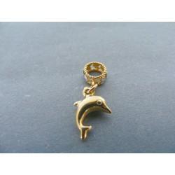 Zlatý prívesok delfín žlté biele zlato DI060V 14 karátov 585/1000 0.60g