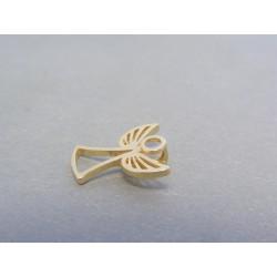 Zlatý prívesok anjel žlté zlato VI093Z 14 karátov 585/1000 0.93g