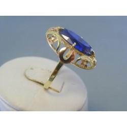 Zlatý dámsky prsteň červene žlté zlato kameň VP64452V 14 karátov 585/1000 4.52g