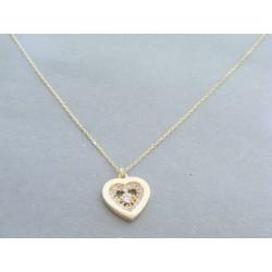 Zlatá dámska retiazka s príveskom srdce VA42222Z 14 karátov 585/1000 2.22g