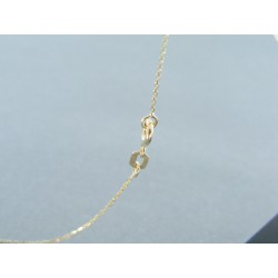 Zlatá dámska retiazka s príveskom vaška VR435176Z 14 karátov 585/1000 1.76g