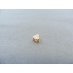 Zlatý prívesok srdiečko červené zlato VI037C 14 karátov 585/1000 0.37g