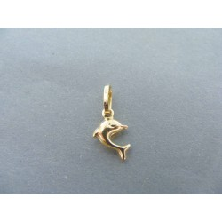 Zlatý prívesok delfín žlté zlato VI047Z 14 karátov 585/1000 0.47g