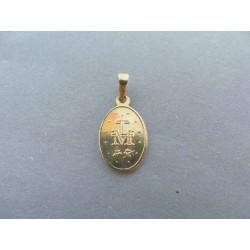 Zlatý prívesok panenka Mária VI113Z 14 karátov 585/1000 1.13g