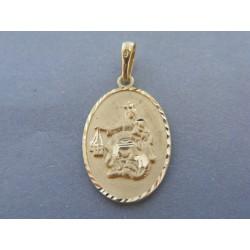 Zlatý prívesok sv. obrázok žlté zlato VI315Z 14 karátov 585/1000 3.15g