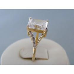 Zlatý dámsky prsteň žlté zlato zirkóny VP55418Z 14 karátov 585/1000 4.18g