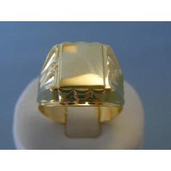Zlatý pánsky prsteň žlté zlato VP69621Z 14 karátov 585/1000 6.21g