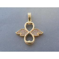 Zlatý dámsky prívesok nekonečno krídla zirkóny VI195Z 14 karátov 585/1000 1.95g