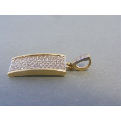 Zlatý dámsky prívesok zirkóny VI196Z 14 karátov 585/1000 1.96g