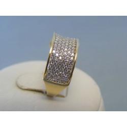 Zlatý dámsky prsteň zirkóny žlté zlato VP56301Z 14 karátov 585/1000 3.01g