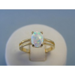 Zlatý dámsky prsteň opál žlté zlato VP56286Z 14 karátov 585/1000 2.86g