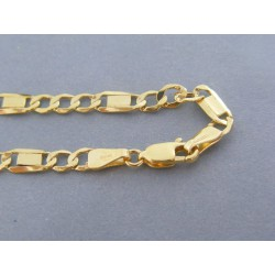 Zlatý pánsky náramok vzor figaro žlté zlato VN212267Z 14 karátov 585/1000 2.67g