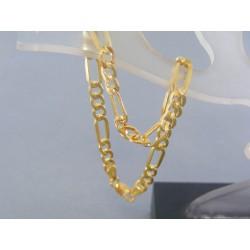Zlatý náramok vzor figaro žlté zlato VN185244Z 14 karátov 585/1000 2.44g