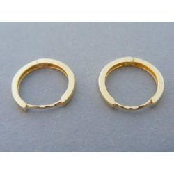 Zlaté dámske náušnice krúžka hladké VA158Z 14 karátov 585/1000 1.58g