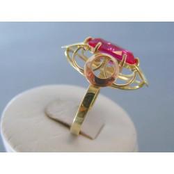 Zlatý dámsky prsteň ružový zirkón žlté červené zlato VP62485V 14 karátov 585/1000 4.85g