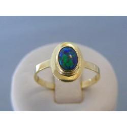 Zlatý dámsky prsteň tmavý opál žlté zlato VP63257Z 14 karátov 585/1000 2.57g