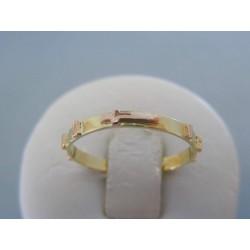 Zlatý prsteň ruženec červené žlté zlato VP61170V 14 karátov 585/1000 1.70g
