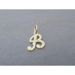 Zlatý prívesok písmenko DI030Z 585/1000 14 karátov 0.30g