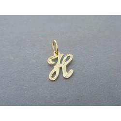Zlatý prívesok písmenko DI031Z 585/1000 14 karátov 0.31g