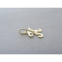 Zlatý prívesok písmeno K písané DP039Z 14 karátov 585/1000 0.39g