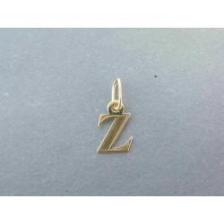 Zlatý prívesok písmenko DI017Z 585/1000 14 karátov 0.17g