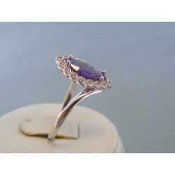 Zlatý dámsky prsteň biele zlato zirkóny DP62392B 585/1000 3.92g