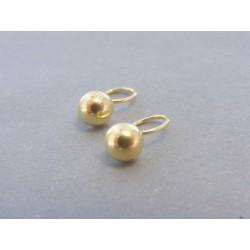 Zlaté detské náušnice žlté zlato DA116Z 585/1000 14 karátov 1.16g