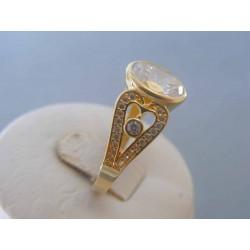 Zlatý dámsky prsteň žlté zlato zirkóny DP57529Z 14 karátov 585/1000 5.29g