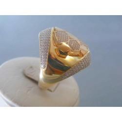 Zlatý dámsky prsteň zirkóny žlté zlato DP64702Z 14 karátov 585/1000 7.02g