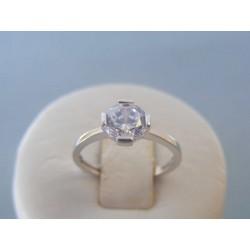 Zlatý dámsky prsteň biele zlato zirkón DP49192B 14 karátov 585/1000 1.92g