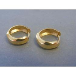 Zlaté dámske náušnice kružka hladké DA229Z 14 karátov 585/1000 2.29g