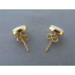 Zlaté dámske náušnice opál žlté zlato DA164Z 14 karátov 585/1000 1.64g