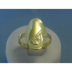 Zlatý dámsky prsteň vzorovaný žlté zlato VP62305Z 14 karátov 585/1000 3.05g