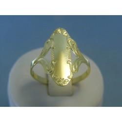 Zlatý dámsky prsteň vzorovaný žlté zlato VP64292Z 14 karátov 585/1000 2.92g