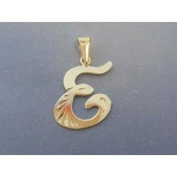 Zlatý prívesok písmeno E písané VI082Z 14 karátov 585/1000 0.82g