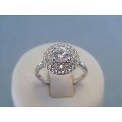 Strieborný dámsky prsteň zirkóny DPS55323 925/1000 3.23g