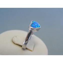 Strieborný dámsky prsteň srdce opál DPS53273 925/1000 2.73g