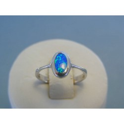 Strieborný dámsky prsteň opál DPS51184 925/1000 1.84g